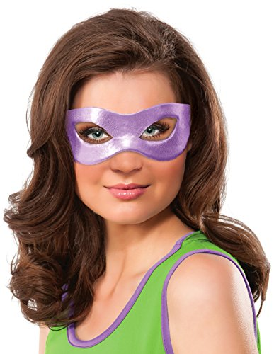 Tmnt Eye Mask (Rubie's Costume Co Women's Teenage Mutant Ninja Turtles Classic Donatello Eye Mask, Purple, One Size)