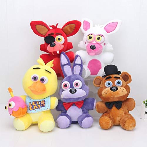 LQT Ltd New 25cm Fi-ve Nights at Fred-dy's 4 FNAF Mangle Foxy Fred-dy Fazbear Stuffed Plush Doll Toy ()