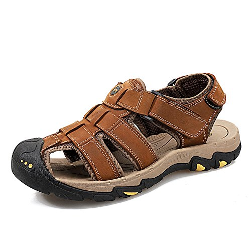 De Punta con Zapatillas Sandalias Playa Caminar Senderismo Calzado Zapatillas Aire De para Hombre Deportivas Brown Cómodo De Al para Libre Cuero WWCxcUnIHq