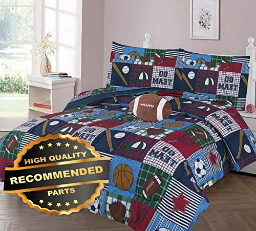 Werrox GO Team GO Comforter Bed Sheet Set Window Panel Valance for Kids Teens Size | Quilt Style QLTR-291267487