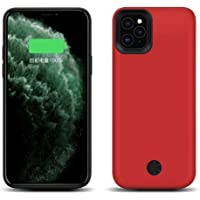 JLW Battery Case for Apple iPhone 11 Anti-Shock Backup Charger Power Bank Cover with 6000 mAh - Red