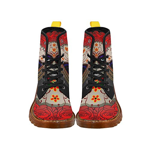 D-Story Shoes Lace up Fahion Boots for Women Multicoloured16