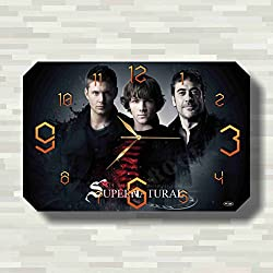 Supernatural 17'' x 11'' Handmade unique Wall Clock - Get unique décor for home or office – Best gift ideas for kids, friends, parents