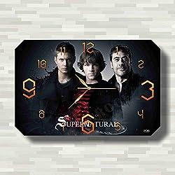 Supernatural 17'' x 11'' Handmade unique Wall Clock - Get unique décor for home or office – Best gift ideas for kids, friends, parents