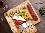 DECOMIL- Cheese Cutting and Service Board with Knife