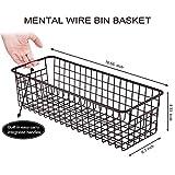 Farmhouse Decor Metal Wire Storage Organizer Bin