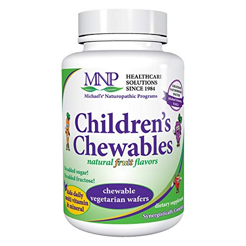 - Michael's Naturopathic Programs Childrens Chewables - Fruit Punch Flavor - 60 Vegetarian Wafers - Childrens Multivitamin & Mineral Supplement - Gluten Free, Kosher - 30 to 60 Servings
