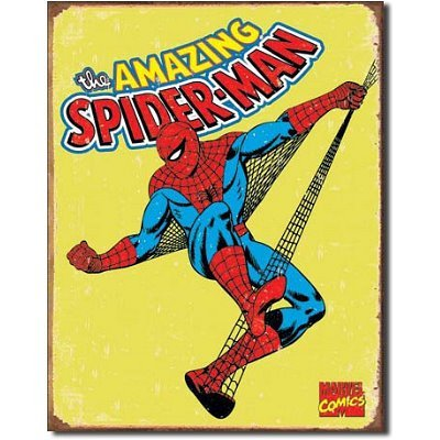 Spiderman-Retro-Tin-Metal-Sign