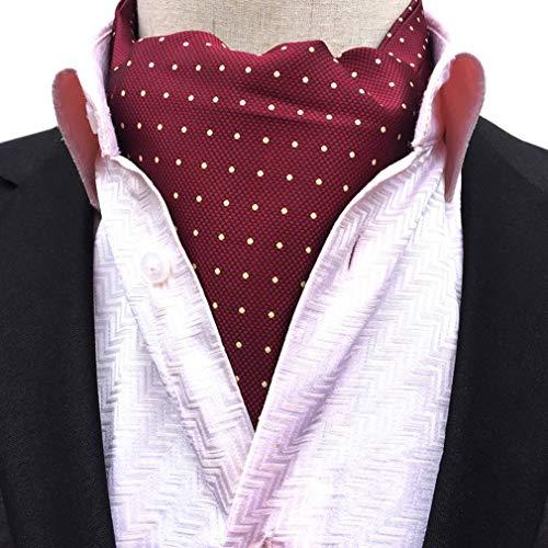 Shirt Ascot Paisley Retro Scarf 12 Formal Men's COMVIP Polyester Necktie qPZUwvWXx