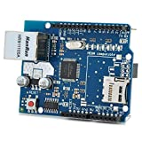 Blue Ethernet Network Expansion Board Micro SD Card Slot for Arduino
