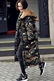 Generic Down_South_ Korean Women girl winter _ear_ loose big _yards_camouflage_ hooded down jacket long thick coat lovers