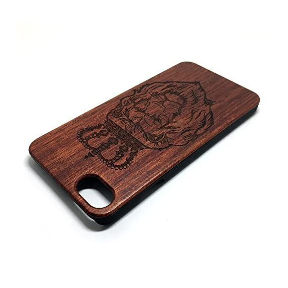 iPhone 7/iPhone 8 Case, Slim Wood Protective Cover Case for iPhone 7,Handmade Wood & Slim Durable Polycarbonate Bumper,Nature Seris(Eye of Providence) (Rosewood Lion Crown) 4 √ Compatible with iPhone 7 (Not for iPhone7 Plus) √ Naturally wood different,each wood back has a unique grain and texture. √ Specially designed for iPhone 7, has precise design for speakers, charging ports, audio ports and buttons.