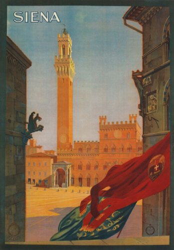 Siena, Italy Travel Poster Reproduction (1925)