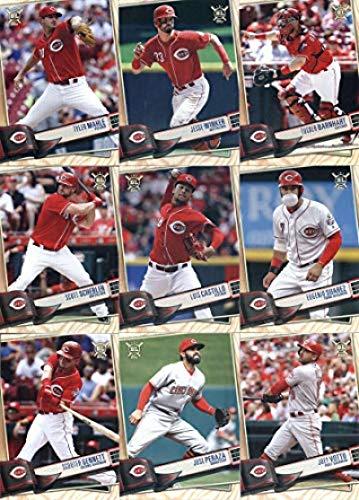 2019 BIG LEAGUE Baseball (Topps product) Cincinnati Reds Team Set (Stock Photo Used, all cards will be base version) of 14 Cards: Yasiel Puig(#4), Derek Dietrich(#37), Raisel Iglesias(#48), Matt Kemp(#65), Joey Votto(#136), Jose Peraza(#144), Scooter Gennett(#231), Eugenio Suarez(#262), Tanner Roark(#272), Luis Castillo(#297), Scott Schebler(#305), Tucker Barnhart(#308), Jesse Winker(#313), Tyler Mahle(#339)