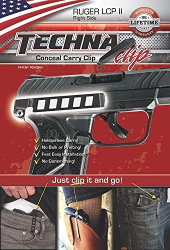 TECHNA TECLCPLL-BR Clip Rug LCP Ii RH Black Gun Stock Accessories by TECHNA