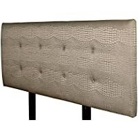 MJL Furniture Designs Ali Padded Bedroom Headboard Contemporary Styled Bedroom Décor, Tillie Series Headboard, Mocha Finish, Eastern King Sized, USA Made