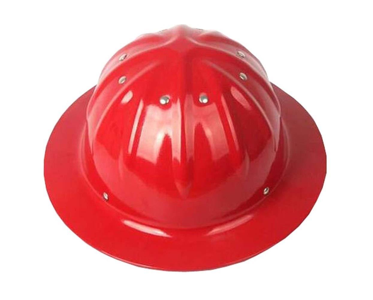 Aluminiumhelm,Aluminium Helm Au/ßenhelm Sonnenschutz Sonnenschutz Farbe : Red Aluminium Hard H/üte Bau Helme