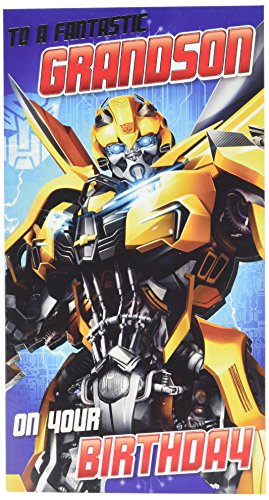 Transformers The Last Knight Grandson Birthday - Birthday Transformers Card