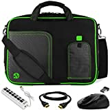 "VanGoddy Green Trim Laptop Bag w/ HDMI Cable , Mouse & USB Hub for Acer Aspire / TravelMate / ChromeBook / Swift / Spin / Predator / Nitro / 14""- 15.6in"