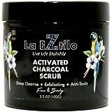La Eztilo Activated Charcoal Scrub, 100g