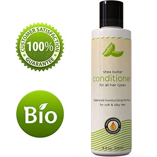 Natural Shea Butter Conditioner (Fragrance Free) with Pure African Shea Butter, Silk Peptide, and Pomegranate Blend – Repairs Broken, Dry and Thinning Hair – Contains No Silicones, Sulfates, or Harmful Chemicals – Made in USA By Honeydew Products, 8