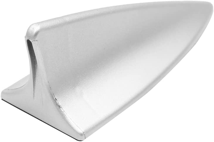 uxcell Universal Plastic Shark Fin Design Auto Car Roof Decorate Antenna Aerial Silver Tone