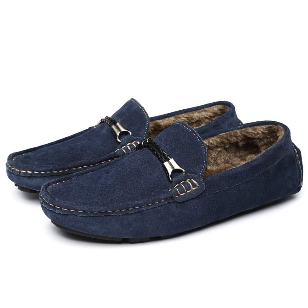 Hongjun-shoes, Mocasines de conducción Casuales de los Hombres y cómodos con Mocasines de Barco Estilo británico Ligero (Terciopelo cálido Opcional), ...
