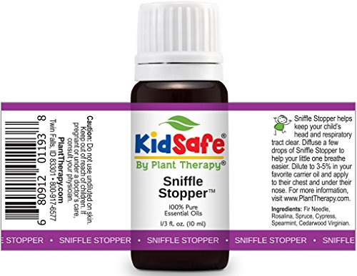 Plant-Therapy-KidSafe-Sniffle-Stopper-Synergy-Essential-Oil-Blend-Blend-of-Fir-Needle-Rosalina-Spruce-Cypress-Spearmint-and-Cedarwood-Virginian-10-ml-13-oz