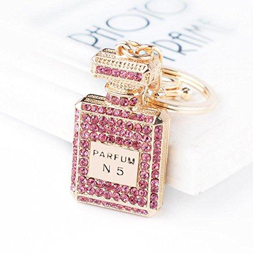 Diamond Perfume European And American Fashion Perfume Bottle Keychain Car Key Chain Creative Gift Bag Ornaments Aliexpress