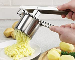 Kartoffelpresse, Edelstahl Spätzlepresse Nudelpresse Spaghettieispresse,...