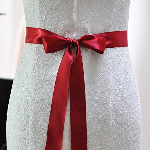 Cristallo Da Donne Per Sposa Ghigliottina Delle Di Vino Rosso Nuziale Matrimonio Fusciacche Azalee Abito Cinture Cinghia qgaEngAH