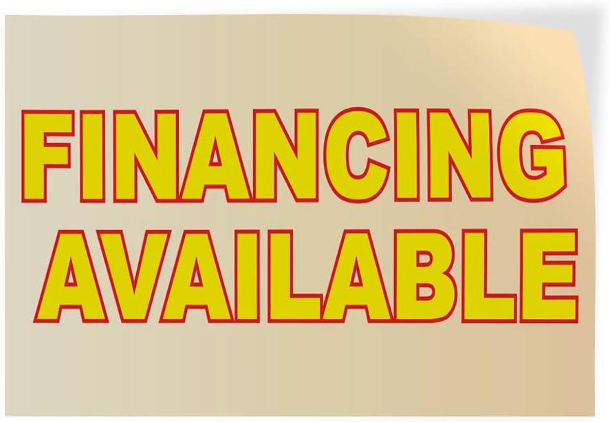 Decal Sticker Multiple Sizes Financing Available Business Style U Business Financing Available Outdoor Store Sign Orange One Sticker 69inx46in