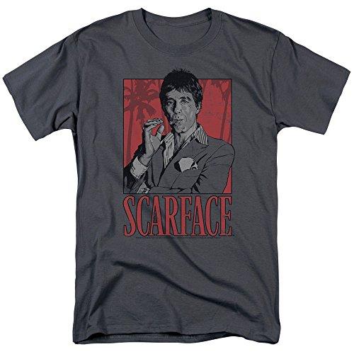 Scarface Tony Mens Short Sleeve Shirt CHARCOAL 4X