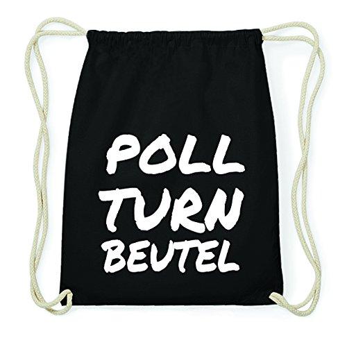 JOllify POLL Hipster Turnbeutel Tasche Rucksack aus Baumwolle - Farbe: schwarz Design: Turnbeutel A7786hI4CY