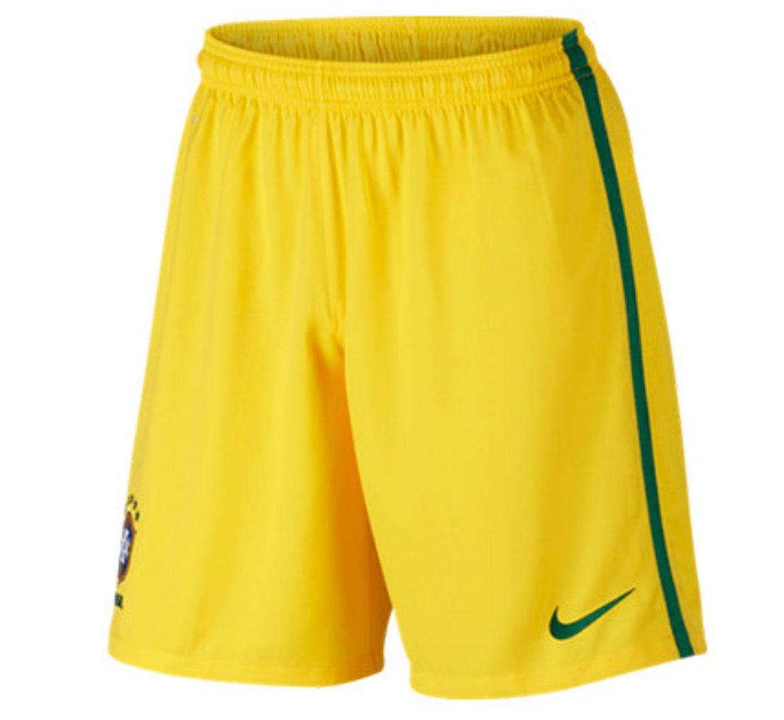 2016-2017 Brazil Nike Home Shorts (Yellow) - Kids B01AC7W986 LB 27-29
