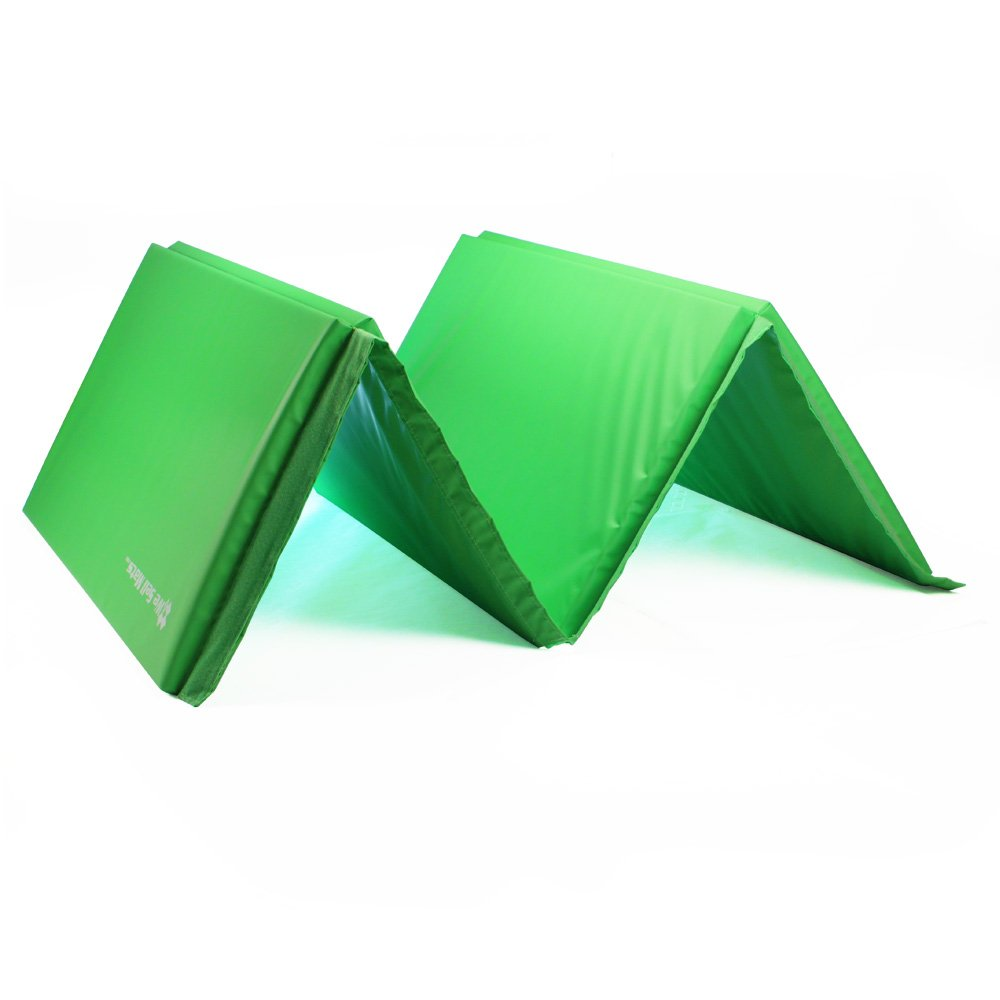 We Sell Mats GM4x8LMGv4-50M Lime Green 2'' Thick Gymnastics Tumbling Exercise Folding Martial Arts Mats with Hook & Loop Fasteners On 4 Sides Crosslink PE Foam Core by We Sell Mats (Image #4)
