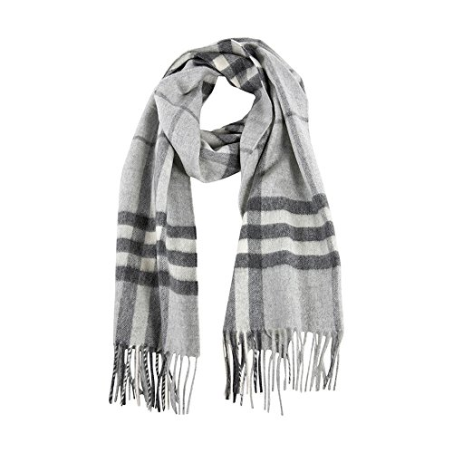 Burberry Women's Giant Check Scarf Pale Grey by BURBERRY