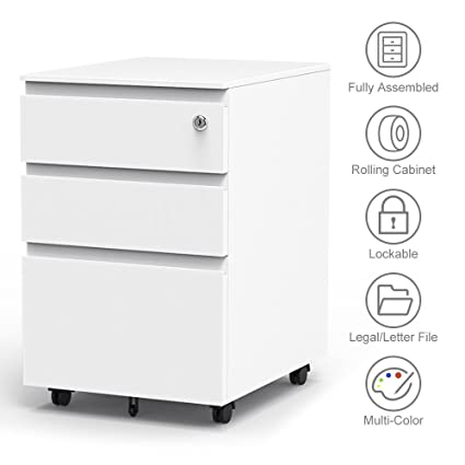 Exceptionnel 3 Drawer Filling Cabinet, Metal Vertical File Cabinet With Hanging File  Frame For Legal