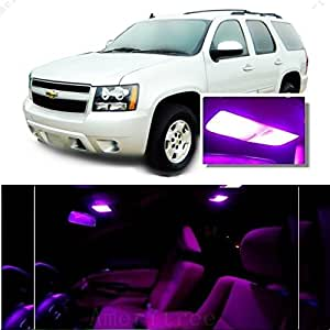 ameritree chevy tahoe 2007 2014 16 pcs pink purple premium led lights interior. Black Bedroom Furniture Sets. Home Design Ideas