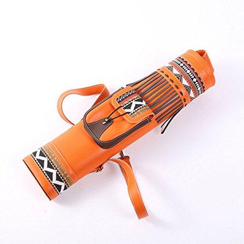 Traditionell Bogenschießen Köcher Bogenpfeil Halterbeutel Orange, Gürtel einstellbar
