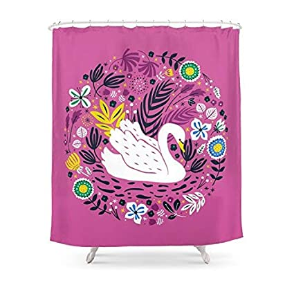 Amazon MAOXUXIN Delightful Swan Shower Curtain 60 By 72 Home