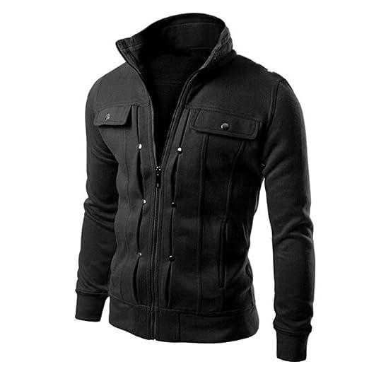 8b3b3cbb3ff Mens Slim Fit Stylish Coat Jacket Blazers Lapel Cardigan at Amazon ...
