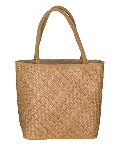 Tribe Azure Women Natural Straw Shoulder Bag Summer Picnic Beach Handbag Tote Lightweight Casual Fashion