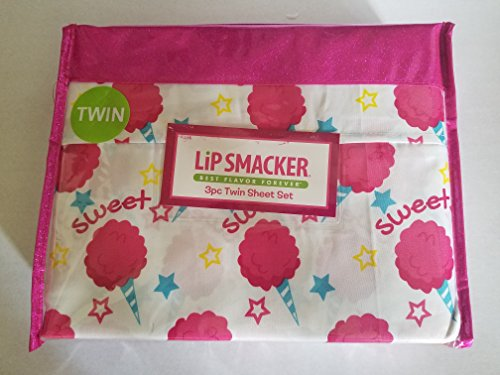 Lip Smacker 3pc Twin Sheet Set Sweet Treats