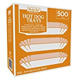 Bakers and Chefs 8 inch Fluted Hot Dog Trays 500ct.