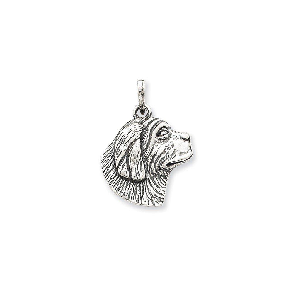 Goldia Sterling Silver Antiqued Pendant