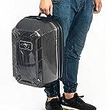 RCYAGO Waterproof Hardshell Backpack Carrying Drone Case Storage Box for DJI Phantom 4 / Phantom 3 Standard Drone Quadcopter (Carbon Fiber)