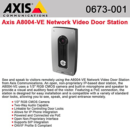 (AXIS Communications 0673-001 Axis A8004-Ve Network Video Do or Station)