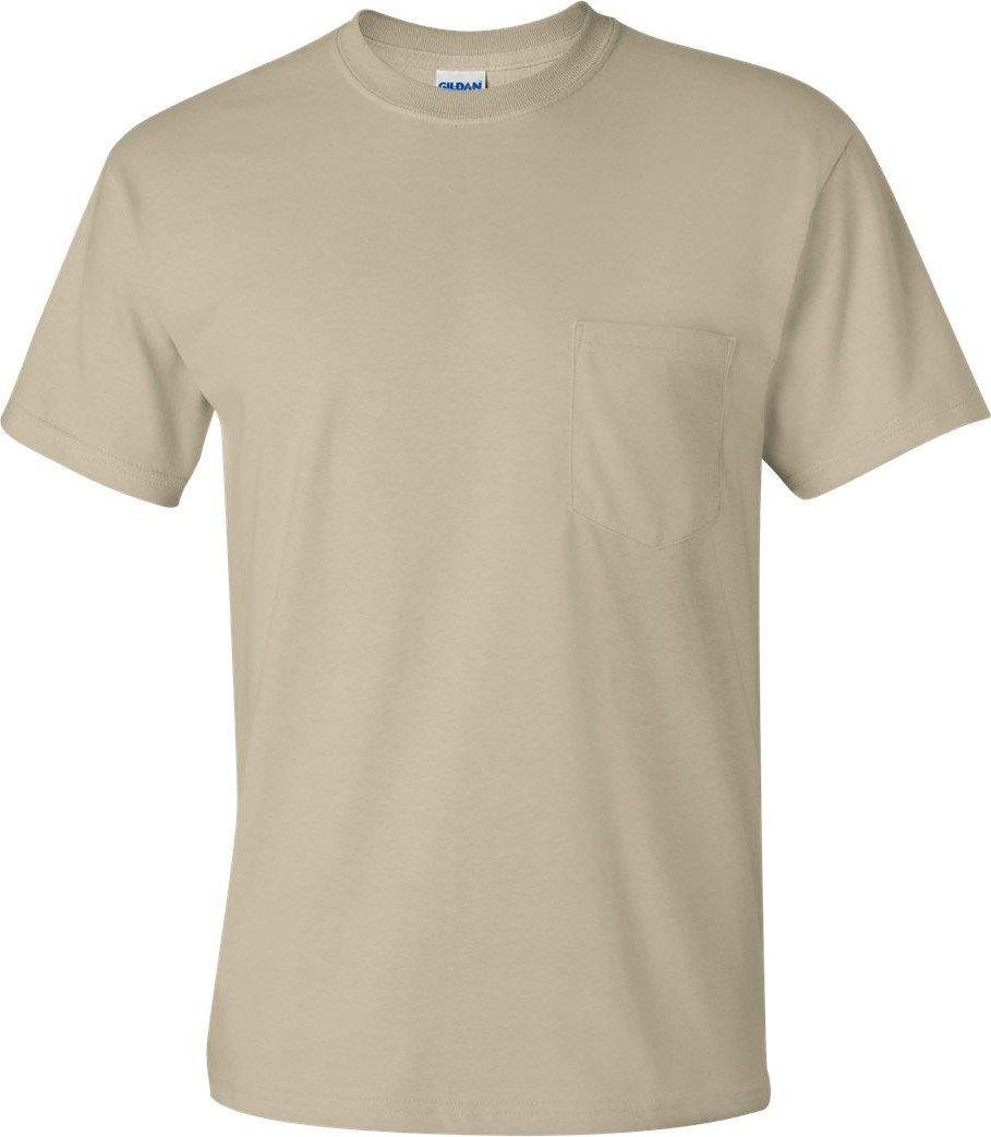Gildan Mens 6.1 oz. Ultra Cotton Short Sleeve Pocket T-Shirt G230 -Navy XL 2300 2410