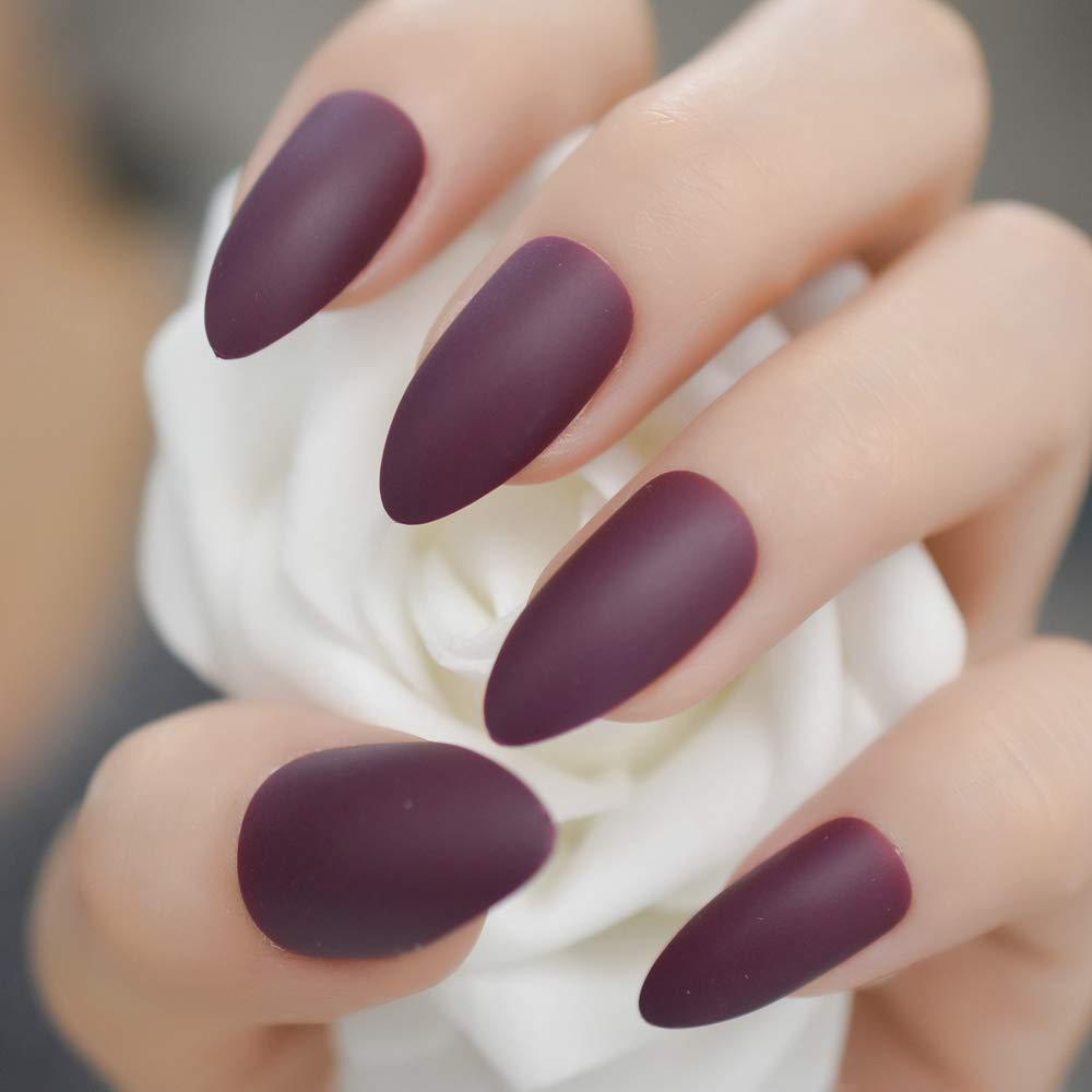 EchiQ - Uva esmerilada, color morado mate, para uñas ...